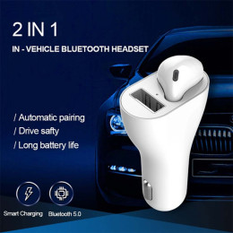 Universal 2 in 1 Bleutooth Earphone Car  Charger  Wireless Headphones