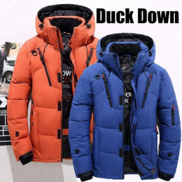 Mens Warm Winter White Duck Thick Down Jacket  Outwear