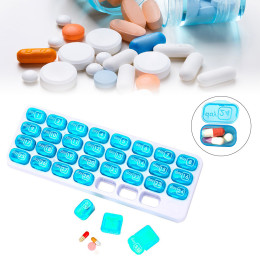 Pill Box 31 Lattices Storage Box Medical Kit Pills Dispenser organizador