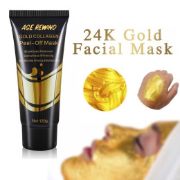 24K Gold Collagen Peel-off Face Mask - gold