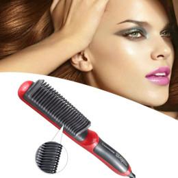 Multifunctional Straightener Styler Brush Men Heat Hair Ceramic Curler