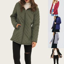 Women Winter Warm Parkas Hooded Basic Jackets