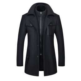Men Fashion Jackets Trench Coat Business Casual Slim   Jackets