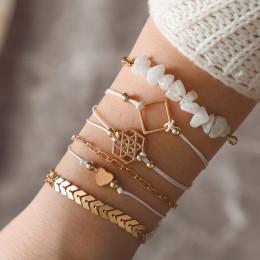 Vintage Multilayer Bracelet Tassel Beads Bangle Bracelets Jewelry Sets
