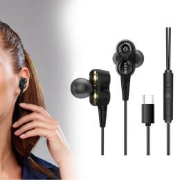 D12 double dynamic Earphone  In Ear earpiece Subwooferearphone
