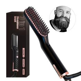 Men Beard Straightener Styling Multifunctional Hair Comb Brush