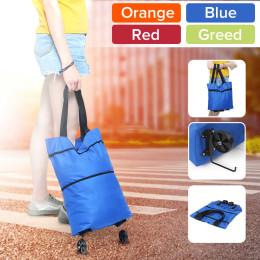 Pull Cart Foldable Telescopic Supermarket Shopping Bag Portable Shopping