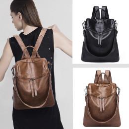 Vintage women backpack PU school backpacks