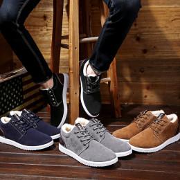 Men's Winter  High-top fleece thick cotton Shoes