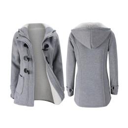 Duffel-coat with hood for women