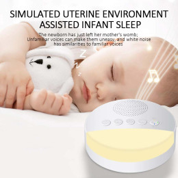 White Noise Machine USB Rechargeable Timed Shutdown Sleep Sound Machine For baby Sleeping