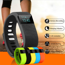 TW64 Bluetooth Fitness Tracker Smart Band Bracelet