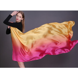 Summer women satin scarf silk shawls