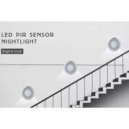 Universal LED Under Cabinet Light Cupboard PIR Motion Sensor Lamp