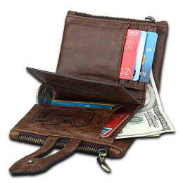 Genuine Leather Mens Wallet Cowhide Purse