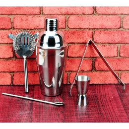 Stainless Steel Cocktail Shaker Set Kit