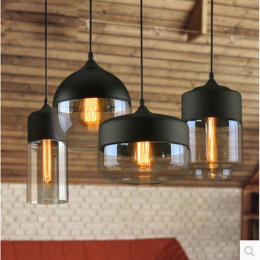 Modern Nordic Loft Hanging Pendant Lamp Glass Lamps