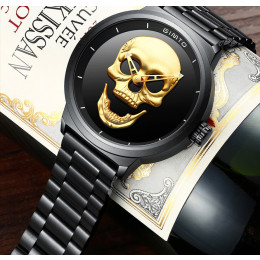 Cool Punk 3D Skull Men Watch