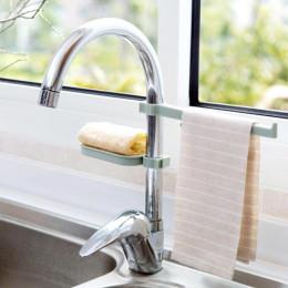 Faucet Clip Dish Cloth Clip Shelf Drain Dry Towel Organizer