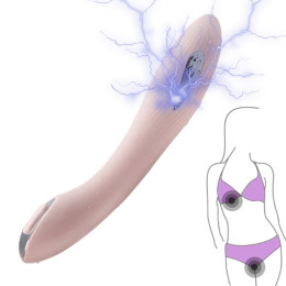 12 Speeds Electric Shock Pulse Dildo Vibrator Vagina Clitoris Stimulator