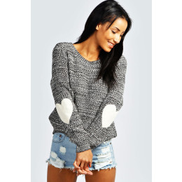 Winter Love Heart Sweaters Long Sleeve Knitted Sweater
