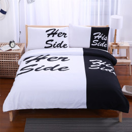 White & Black 3D Duvet Cover Bed Sheet Pillow Cases