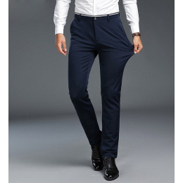 Men's Slim Fit Flat-Front elasticity Pants