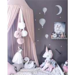 Baby Kids Princess Bed Canopy Bedcover