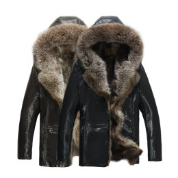 Frosty Winter Fashion men's fur coat