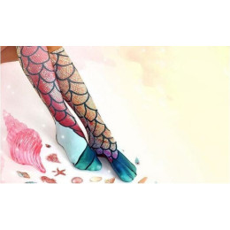 Ladies Mermaid Print Socks