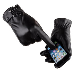 Men's Gloves PU Leather Windproof Outdoor  Glove