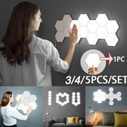 Touch Sensing Honeycomb Hexagonal Assembleable Background Wall Lamp
