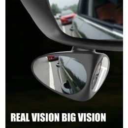 Car Blind Spot Mirror 360 Degree Convex Rotatable  Rear View Parking Mirror