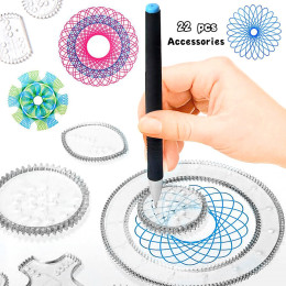 Spirograph Drawing toys set Interlocking Gears & Wheels Geometric ruler Drawing Accessories