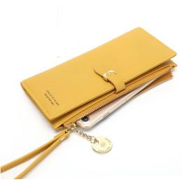 Women Long Wallet Solid Color Clutch Women's Wrist Wrap
