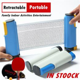 Portable Table Tennis Net Rackets Retractable Strong Mesh