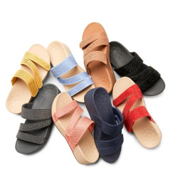 PU Platform Sandals with Rhinestones Velcro Sandals