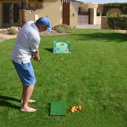 Backyard Golf Cornhole Game Chipping Net Putting Mat Outdoor Indoor Putt Target