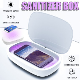 Prtable UV Sterilizer Lamp Box with wireless charger