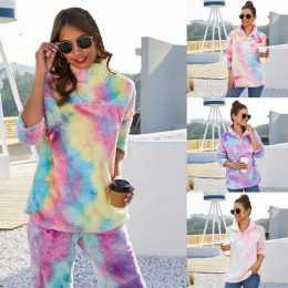 Rainbow Plush Jacket Sweatshirt