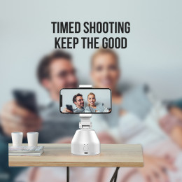 360 Rotation Face Object Tracking Shooting Selfie Stick Tripod Holder