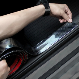 Car Stickers 5D Carbon Fiber Rubber Styling Door Sill Protector