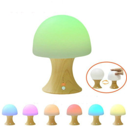 Mushroom night light with timer