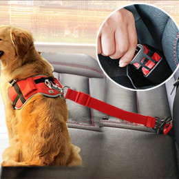 Adjustable Dog Seat Belt Dog Harness Pet Car Vehicle Seat Belt