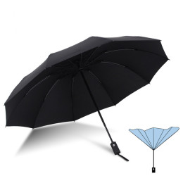 Automatic reverse folding umbrella