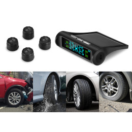 Solar Power USB TPMS Car Tire Pressure Monitoring System