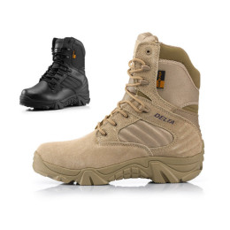Lace Up Outdoor Trend Tactical Hiking Boots Anti-slip High-top Desert Shoes