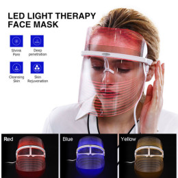 LED Photonic Skin Instrument 3 Colors Light Skin Care Facial Mask