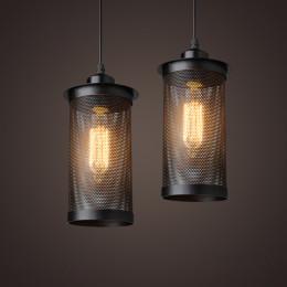 Wrought iron gauze retro chandelier