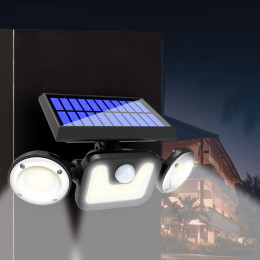 Outdoor waterproof human body induction bright solar wall light